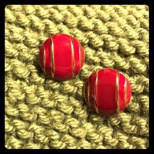 Vintage round women's earrings
